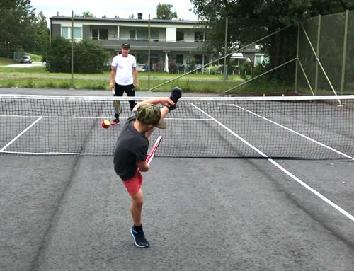 Kvarterstennis: 132 barn provade på tennis i Skellefteå